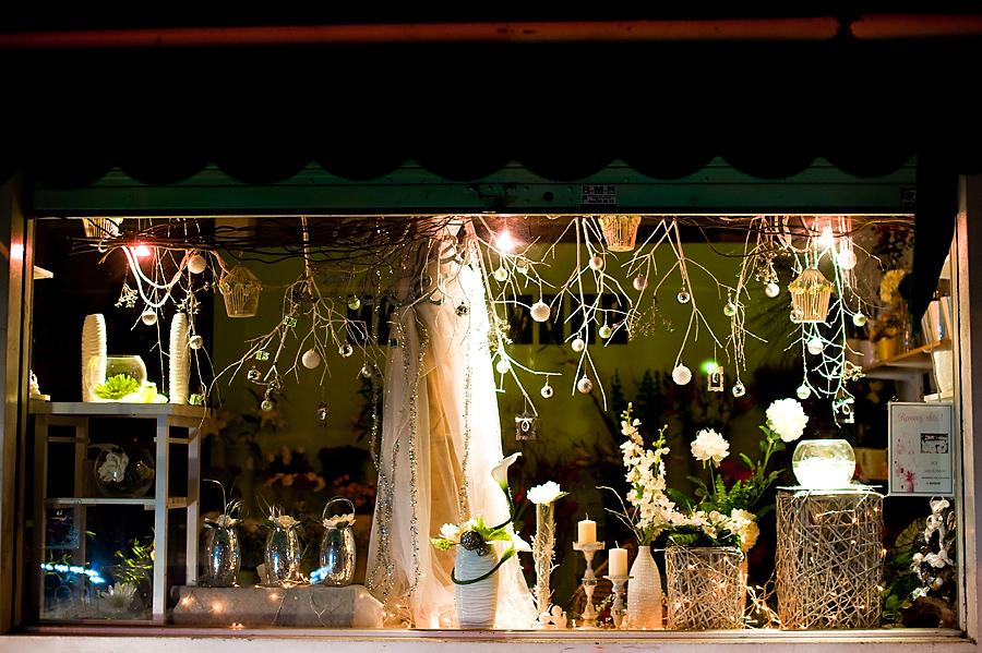 La magie de no l la cl des champs fleurs - Idee decoration vitrine ...